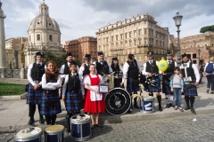 Esibizione scozzese ai Fori Imperiali con la City of Rome Pipe Band