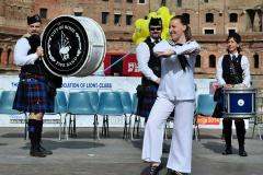 Esibizione scozzese ai Fori Imperiali con la City of Rome Pipe Band
